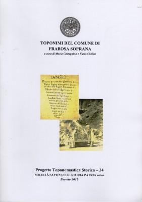 TOPONIMI DEL COMUNE DI FRABOSA SOPRANA